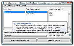 MS Access Change Text Case to Uppercase Lowercase Propercase and Sentence Case Icon